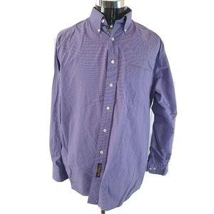 Tommy Hilfiger Mens Oxford Shirt Purple Gingham